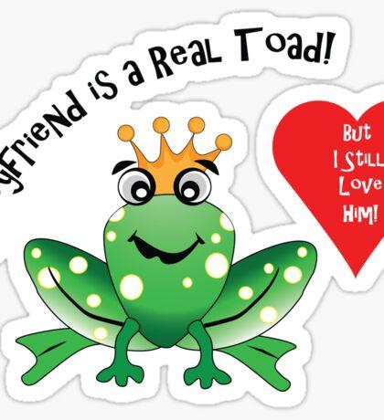Boyfriend Toad I Still Love Him! Sticker