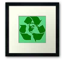 Earth Day Recycle Reuse Reduce Design Framed Print