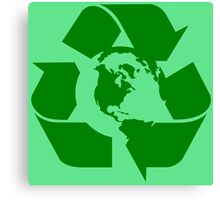 Earth Day Recycle Reuse Reduce Design Canvas Print