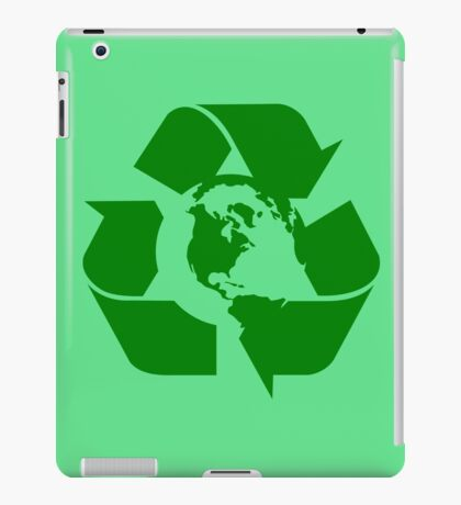 Earth Day Recycle Reuse Reduce Design iPad Case/Skin