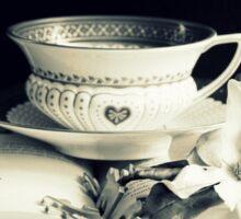 Tea,  Magnolia And Book Sticker