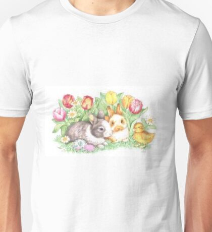 Bunnies and Chick Unisex T-Shirt