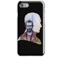 The Ninth Doctor Silhouette with Sketch iPhone Case/Skin