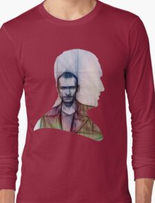 The Ninth Doctor Silhouette with Sketch Long Sleeve T-Shirt