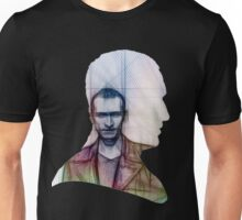 The Ninth Doctor Silhouette with Sketch Unisex T-Shirt