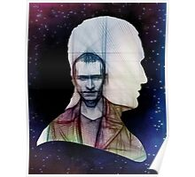 The Ninth Doctor Silhouette with Sketch Poster