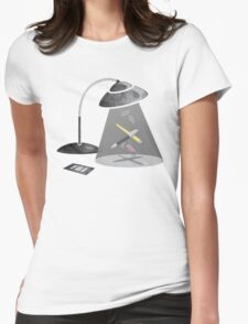 Desktop Abduction Womens Fitted T-Shirt