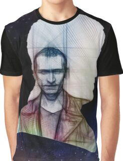 The Ninth Doctor Silhouette with Sketch Graphic T-Shirt