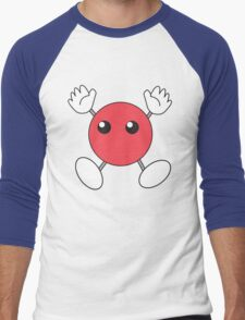 Hinata's Red Blob Shirt Design Men's Baseball ¾ T-Shirt