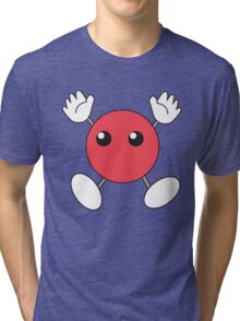 Hinata's Red Blob Shirt Design Tri-blend T-Shirt