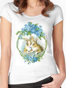 Basket of Bunnies Women's Fitted Scoop T-Shirt