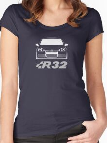 MKV Golf R32 Front Women's Fitted Scoop T-Shirt