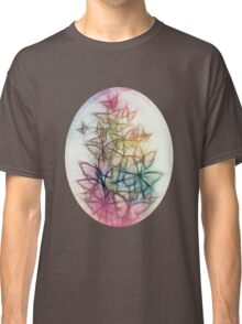 Rainbow Colored Butterfly Sketch Drawing Classic T-Shirt