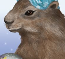 Psychic Groundhog Predicts the Future Sticker