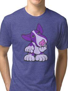 Pondering EBT Cartoon Purple  Tri-blend T-Shirt