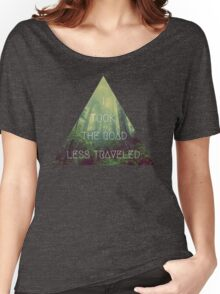 road less traveled nature explore travel redwood book wanderlust print Women's Relaxed Fit T-Shirt