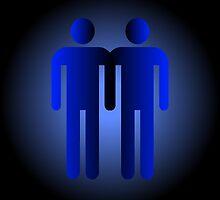 Gay Couple Symbol by Alienzombie13