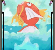 Pokemon Tarot . 0 [MAGIKARP] by tralma