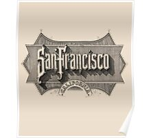 19th Century Typeface SF Gold RUSH Poster