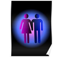 Boy and Girl Couple Symbol Poster