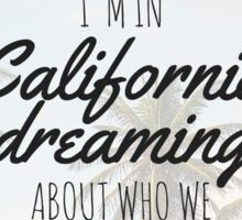 Adele Hello California Beach Boys Dream Tumblr Palm Sunset Print Sticker