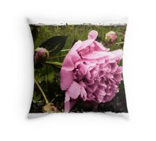 Pink  Peony - Romantic Floral Throw Pillow