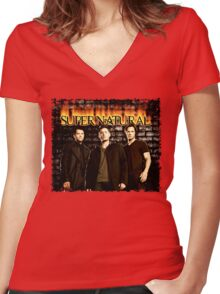 Supernatural Women's Fitted V-Neck T-Shirt
