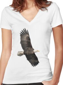 Isolated American Bald Eagle 2016-4 Women's Fitted V-Neck T-Shirt