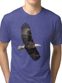 Isolated American Bald Eagle 2016-4 Tri-blend T-Shirt