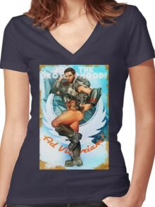 Join the Brotherhood! Women's Fitted V-Neck T-Shirt