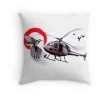 Friendly Flying Throw Pillow