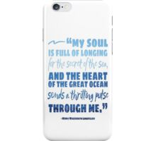 Secret of the Sea Longfellow Quote Art iPhone Case/Skin