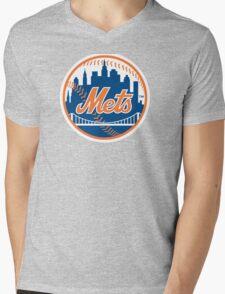 New York Mets Mens V-Neck T-Shirt