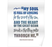 Secret of the Sea Henry Wadsworth Longfellow Quote Art Poster