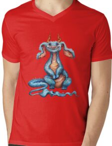 Little Luck Dragon Mens V-Neck T-Shirt