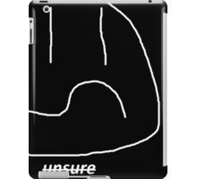 unsure design by LondonDrugs in black iPad Case/Skin