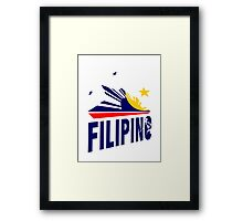 Filipino Stars and Sun Design Framed Print