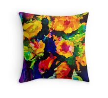 Bright roses Throw Pillow