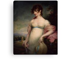 A YOUNG LADY  By mary green Canvas Print