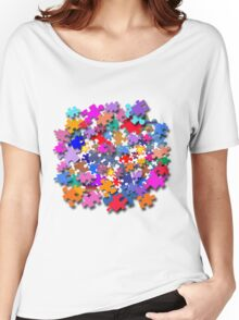 """Jigsaw Pieces"" graphic art Women's Relaxed Fit T-Shirt"