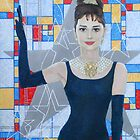 Audrey Hepburn, Old Hollywood star, fine art, portrait, painting by clipsocallipso