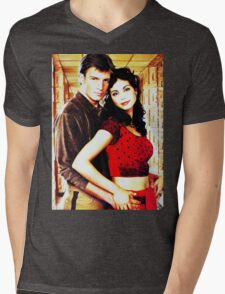 Mal and Inara Mens V-Neck T-Shirt