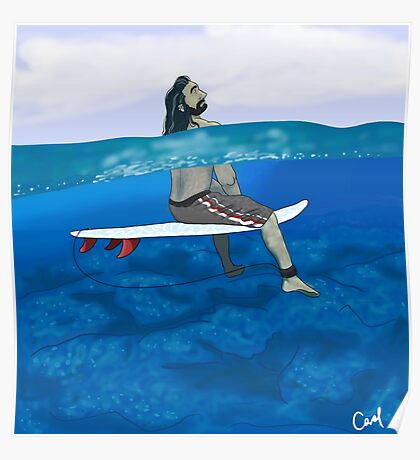 Surfer Thorin Poster