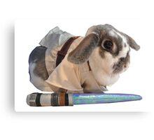 Jedi Bunny  Canvas Print