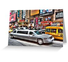 New York City Limo Greeting Card