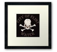 City of Flint Water  Framed Print