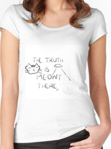 X-Files- The Truth is Meowt There Women's Fitted Scoop T-Shirt