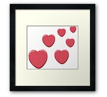 Lee's Love Hearts of Youth! Framed Print