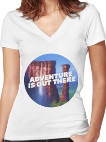 Adventure is Out There Women's Fitted V-Neck T-Shirt