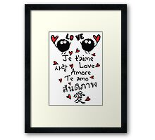 Love in many language Framed Print